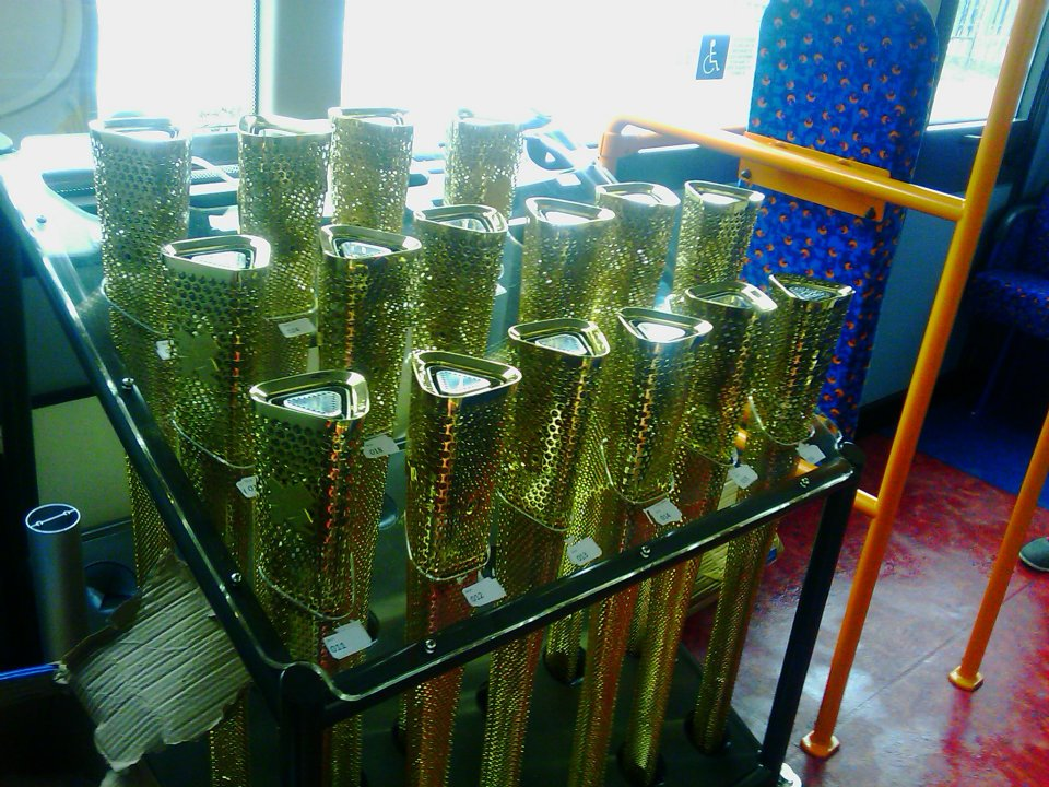 Olympic Torches in Rack - London 2012