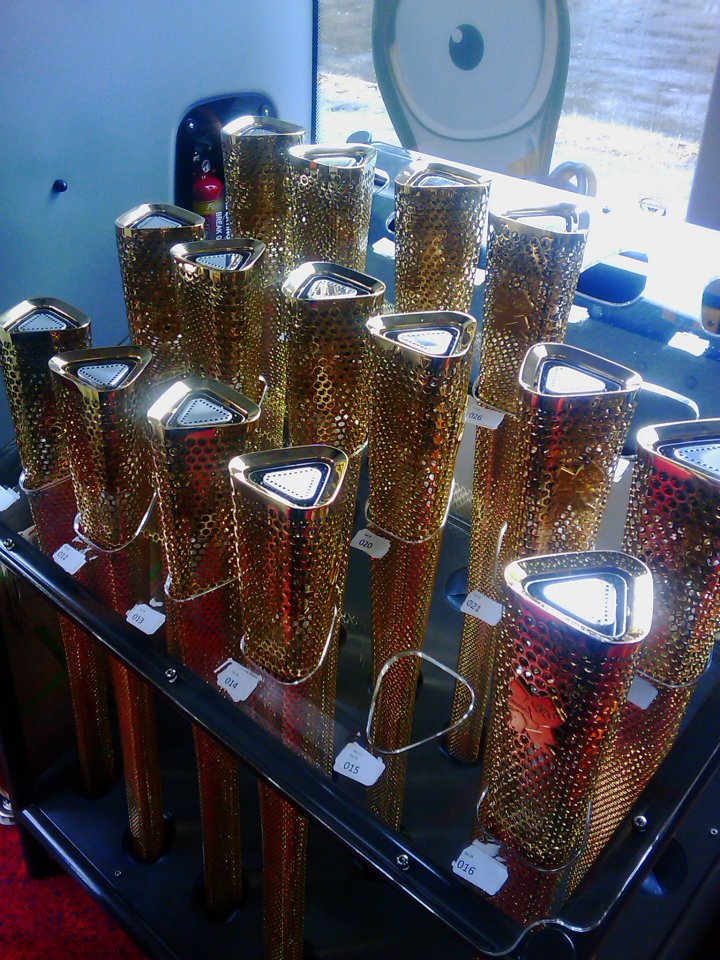 Olympic Torches in Rack (2) - London 2012