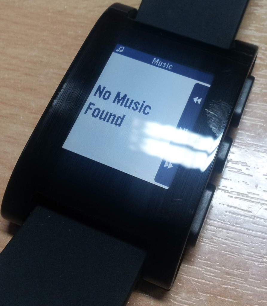 Pebble Music Controls
