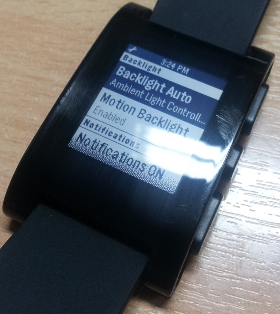 Pebble Display Options